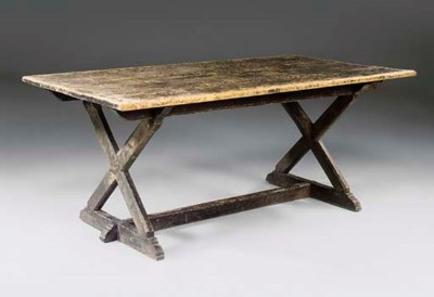 A VICTORIAN PAINTED-PINE TAVER