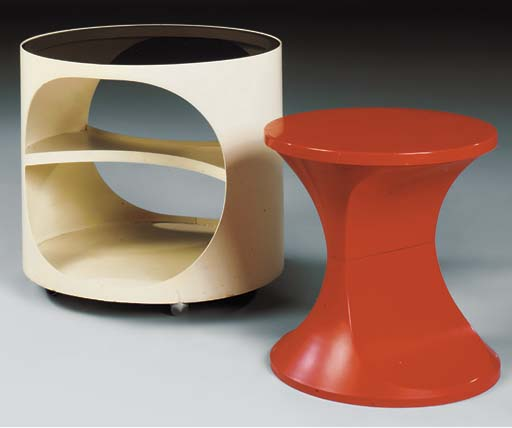 A WHITE-LACQUERED PLYWOOD OCCA