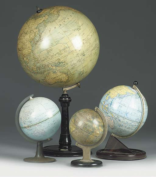 A GROUP OF TABLE GLOBES