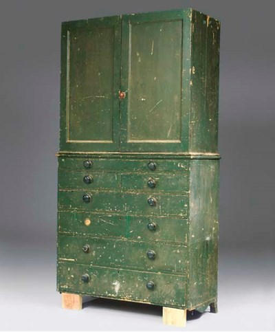 AN EARLY VICTORIAN GREEN-PAINT