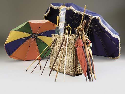 A COLLECTION OF LARGE UMBRELLA