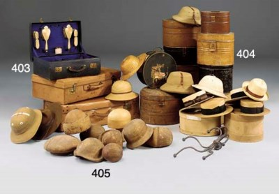 A COLLECTION OF HATS AND HATBO