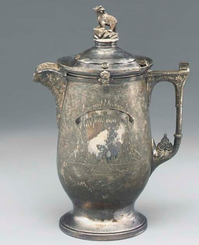 A VICTORIAN SILVER-PLATED AND