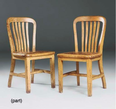 A PAIR OF VICTORIAN OAK SIDE C