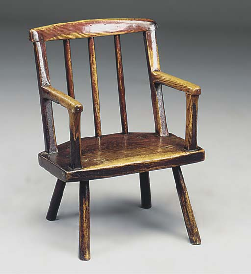 A WELSH ASH ARMCHAIR