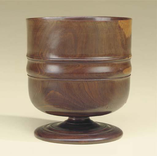A lignum vitae Wassail bowl