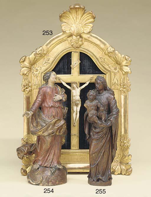 An Italian ivory Corpus Christ