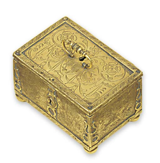 A German brass box or Minnekas