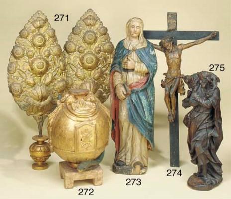A carved wood Corpus Christi