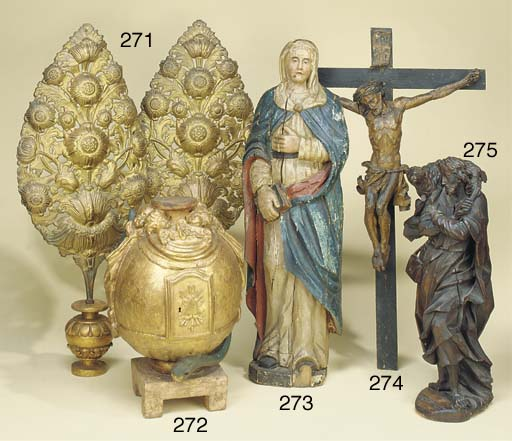 An Austrian carved figure of C