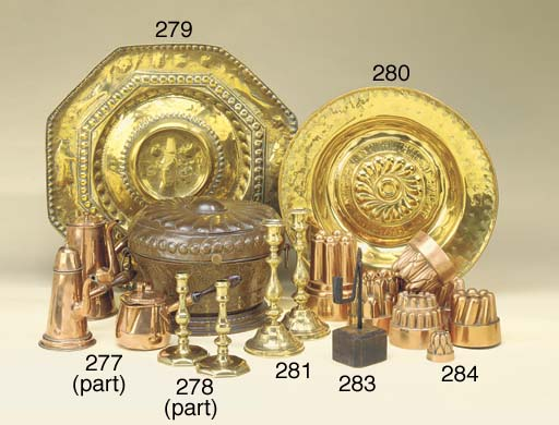 A brass alms dish