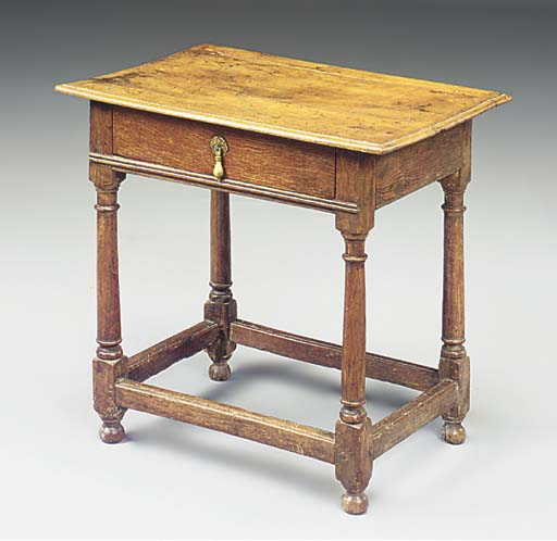 AN ENGLISH OAK SIDE TABLE
