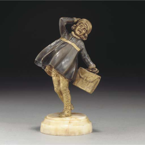 'The School Girl' a patinated