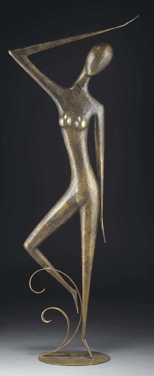 A large Hagenauer brass figure