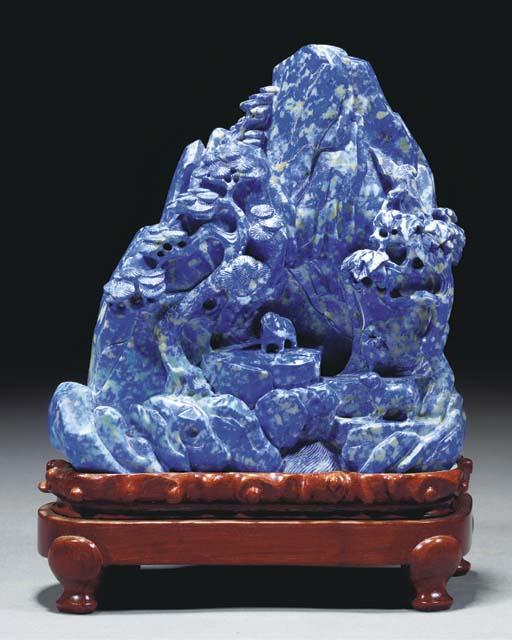 A lapis lazuli mountain group,