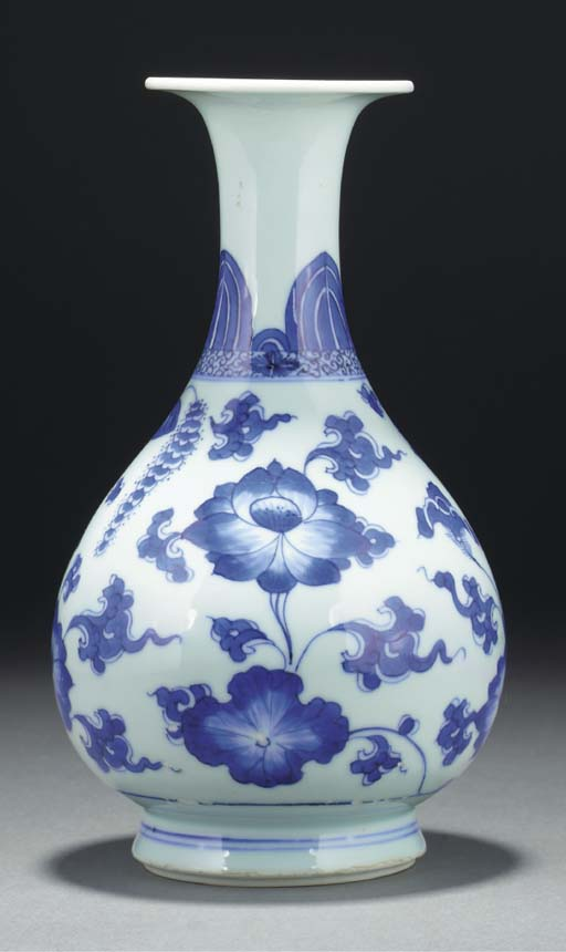 A blue and white yuhuchunping,