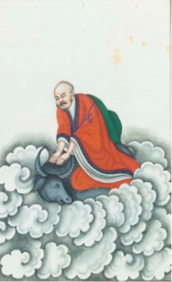 Eleven Chinese paintings on ri