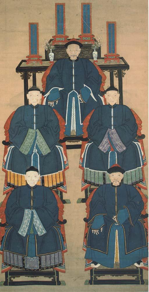 An ancestor scroll painting, 1