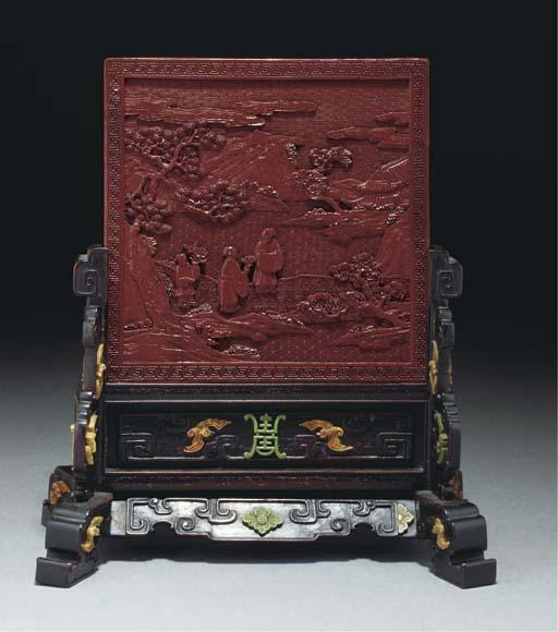 An Imperial cinnabar lacquer t