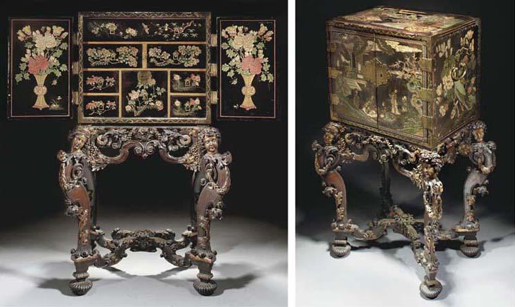 A Coromandel lacquer cabinet,