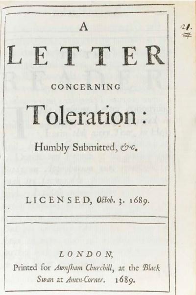 [LOCKE, John (1632-1704)]. A L