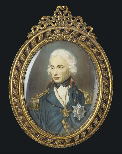 A MINIATURE OF LORD NELSON