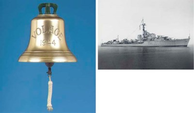 THE SHIP'S BELL FROM H.M.S. VO