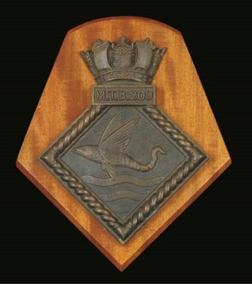 A BOAT BADGE FROM M.T.B.209