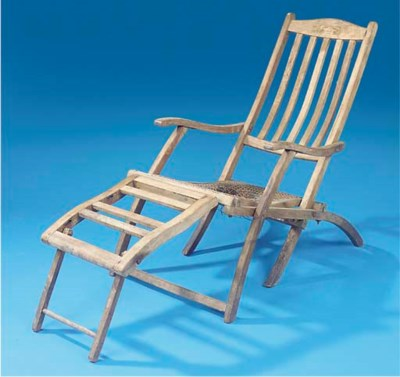 A DECK CHAIR FROM R.M.S. LUSIT