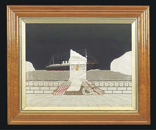 A MEMORIAL TITANIC SILKWORK