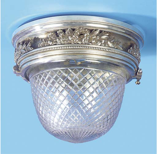 A DECKHEAD LIGHT FITTING FROM