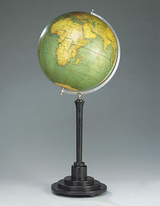 A good 1930's 25-inch diameter German shipping globe,