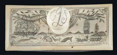 A SCRIMSHAW-DECORATED SECTION