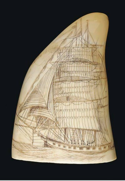 A 19TH-CENTURY SCRIMSHAW-DECOR