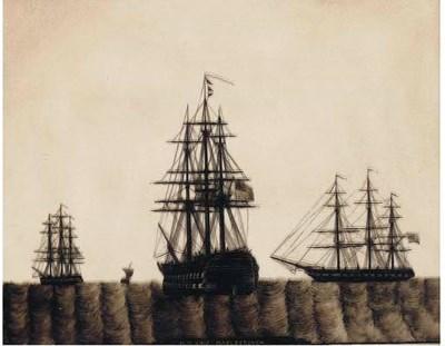 A 19TH-CENTURY SILHOUETTE GLAS