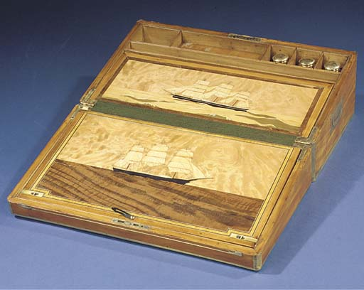 A 19TH-CENTURY MARQUETRY-INLAI