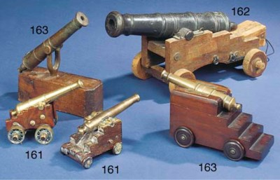 TWO SMALL MODEL CANNONS