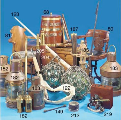 A QUANTITY OF SHIP'S LAMPS