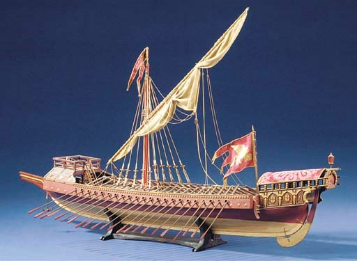 A MODEL OF THE VENETIAN GALLEY