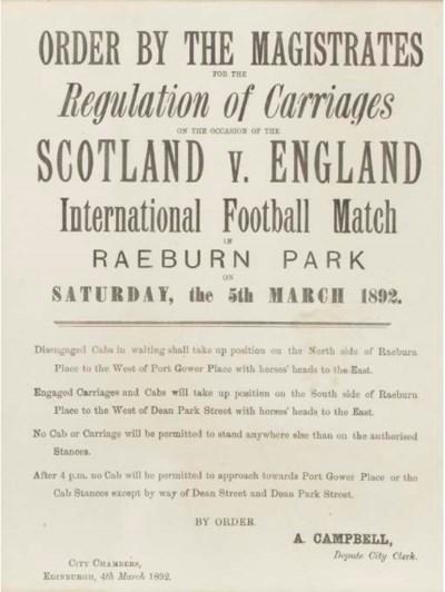 SCOTLAND V. ENGLAND INTERNATIO