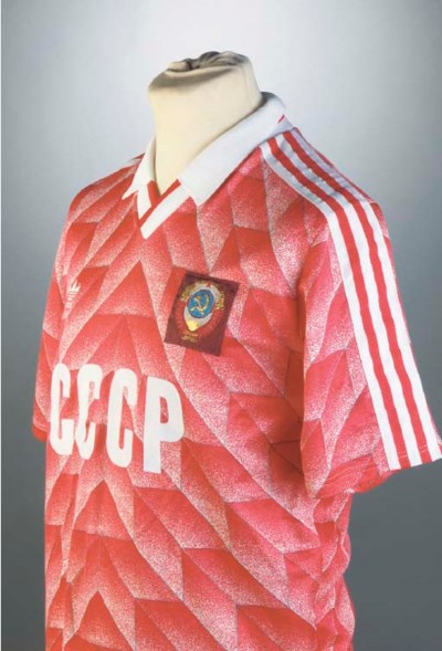 A RED AND WHITE USSR SHORT-SLE