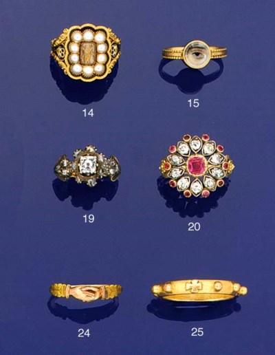 A 19th century diamond and rub