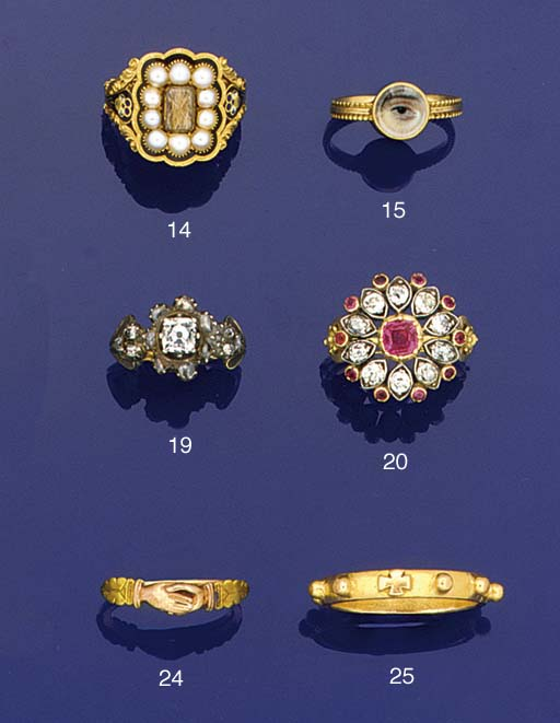 An antique gold decade of the