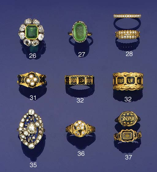A 19th century gold, gem and b