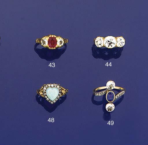 A 19th century opal and diamon