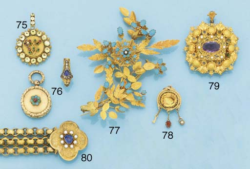 A 19th century gold, foiled to