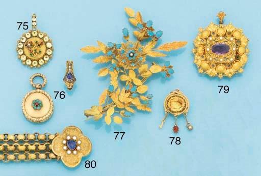 A 19th century gold, amethyst
