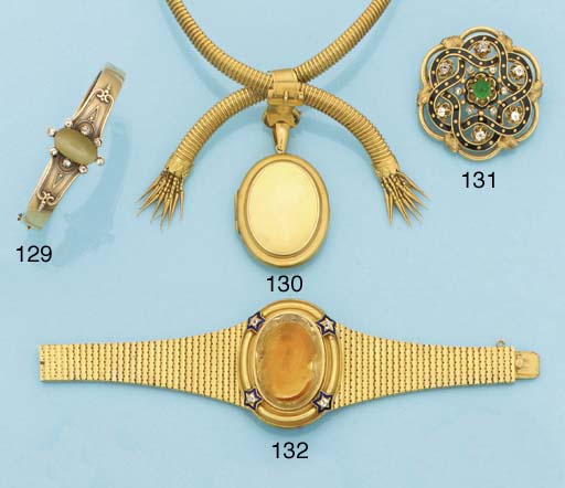 A 19th century gold, diamond a