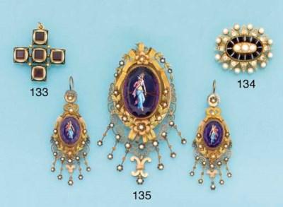A 19th century gold, garnet an