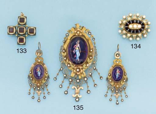 A 19th century gold, diamond h